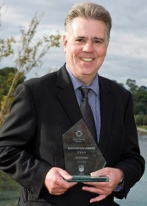 Digby McLeay with the Water Industry Alliance innovation award